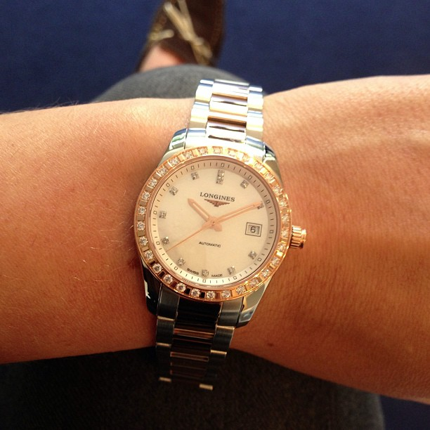Gaia_Vincenzi_wearing_Longines_Conquest_Classic_lady