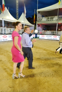 Gaia Vincenzi and Maurizio Danese - event director Longines Global Champions Tour Monaco