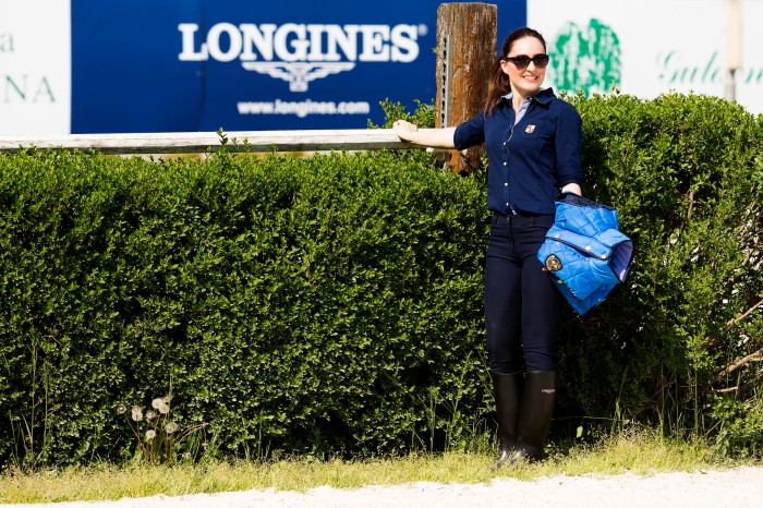 Gaia Vincenzi wearing JH Collection from Hööks Europe, Jane Richard Philips event by Longines – Campo Graziano Mancinelli, Centro Ippico La Madonnina