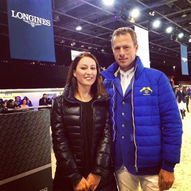 Gaia Vincenzi and Christian Ahlmann, Longines world raking's leader - Longines Masters de Paris