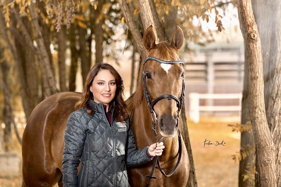 Gaia Vincenzi Scuderia Monteleone Longines Global Champions Tour jacket Tristan Dark Horses