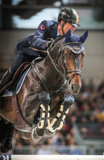 Longines FEI World Cup™ Jumping Verona Luca Marziani ITA riding Tokyo du Soleil Photo FEI/Massimo Argenziano