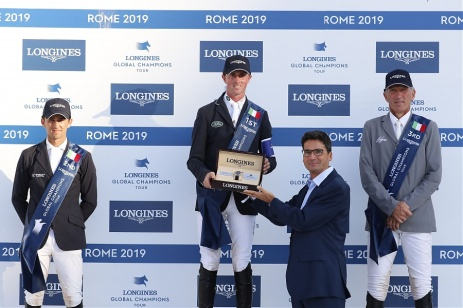 Francesco Giaccon Longines brand manager Longines Global Champions Tour Roma